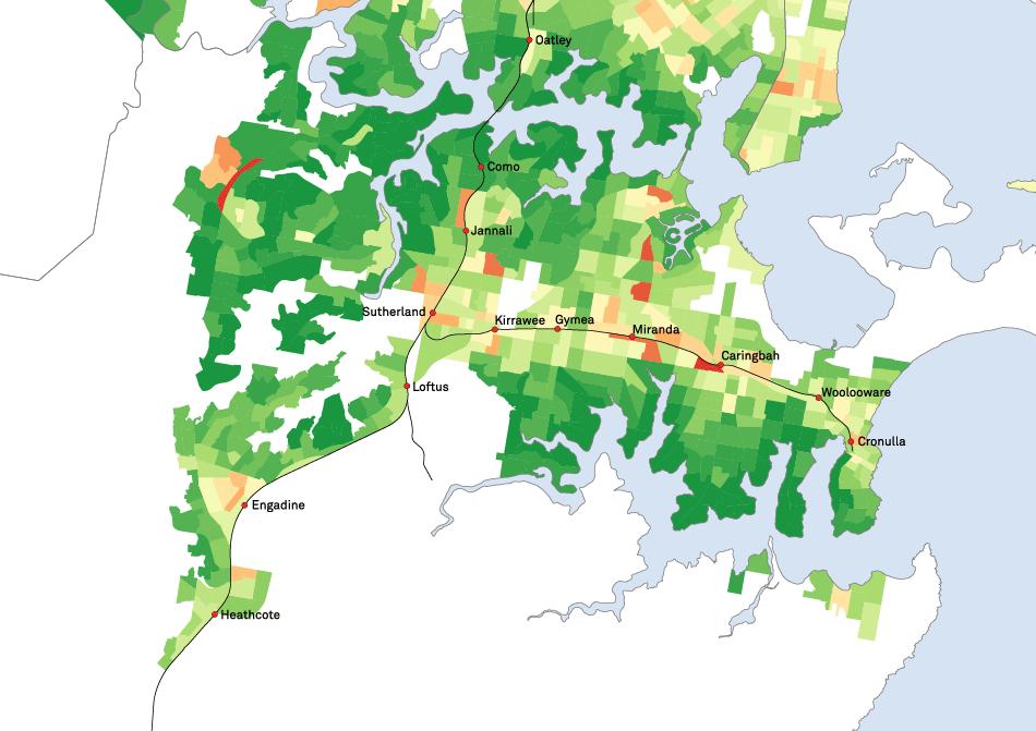 SEIFA Map of Sutherland
