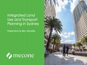 Integrated Land Use and Transport Planning in Sydney
