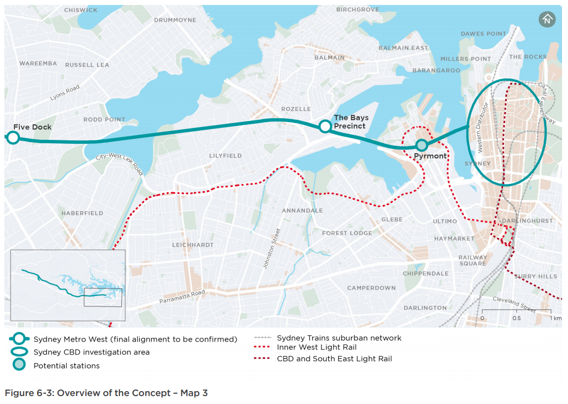 SYDNEY TRAIN MAP FUTURE - Sydney Metro West: Finalised ...
